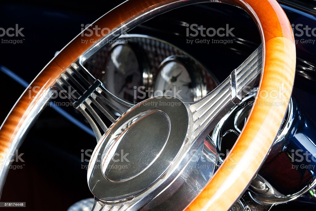 Interno di automobile e Ruota foto stock royalty-free