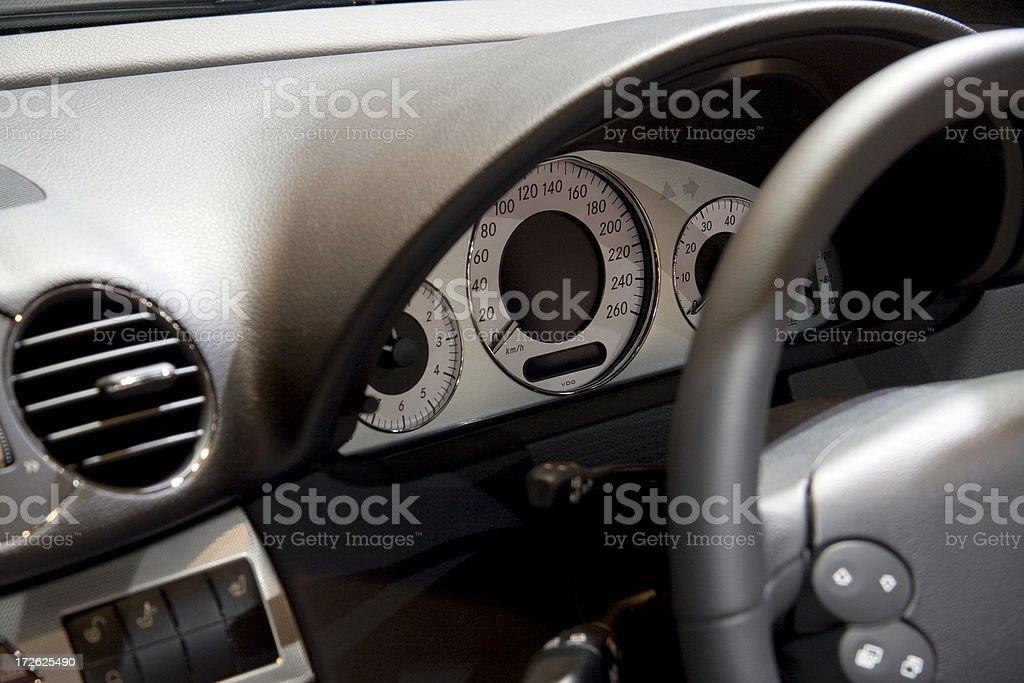 Car interior detail royalty-free stock photo