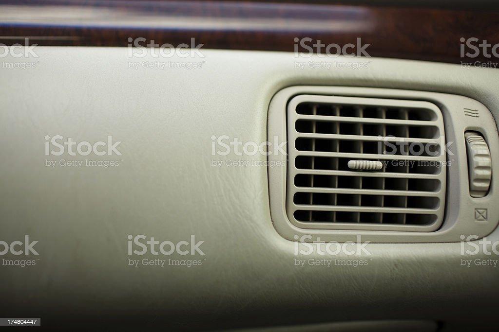 Car Interior Heater Vents royalty-free stock photo