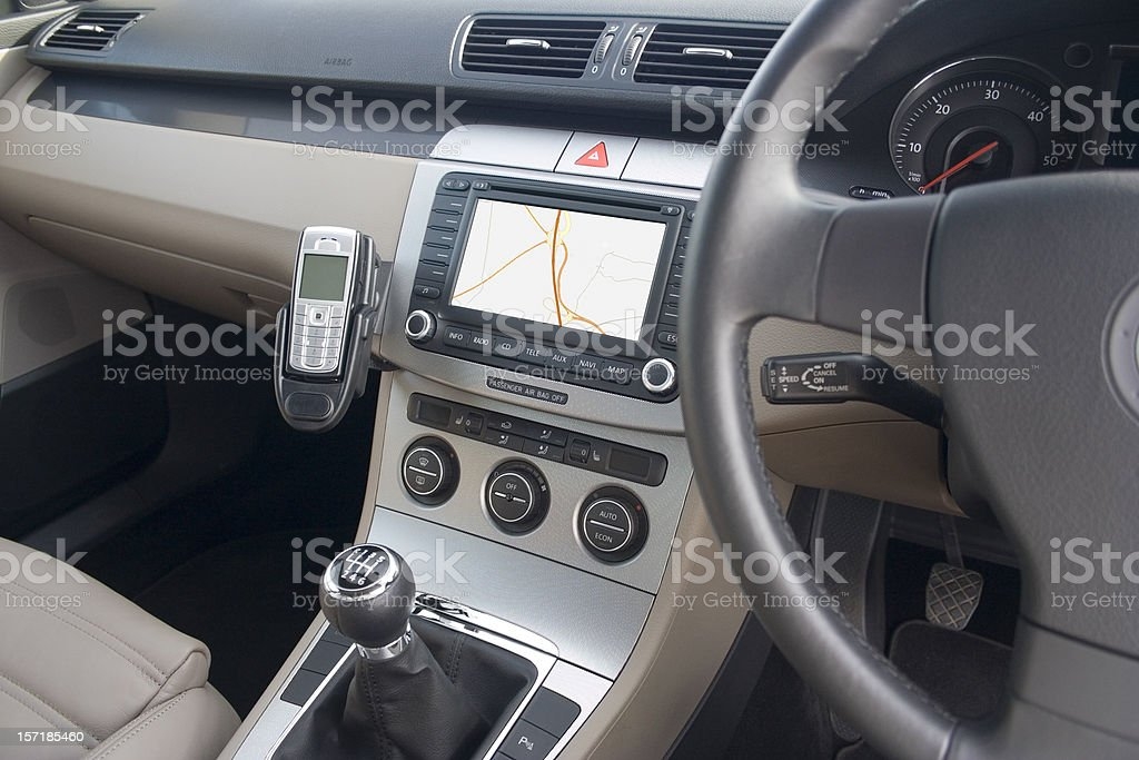 Car Interior (with path) royalty-free stock photo