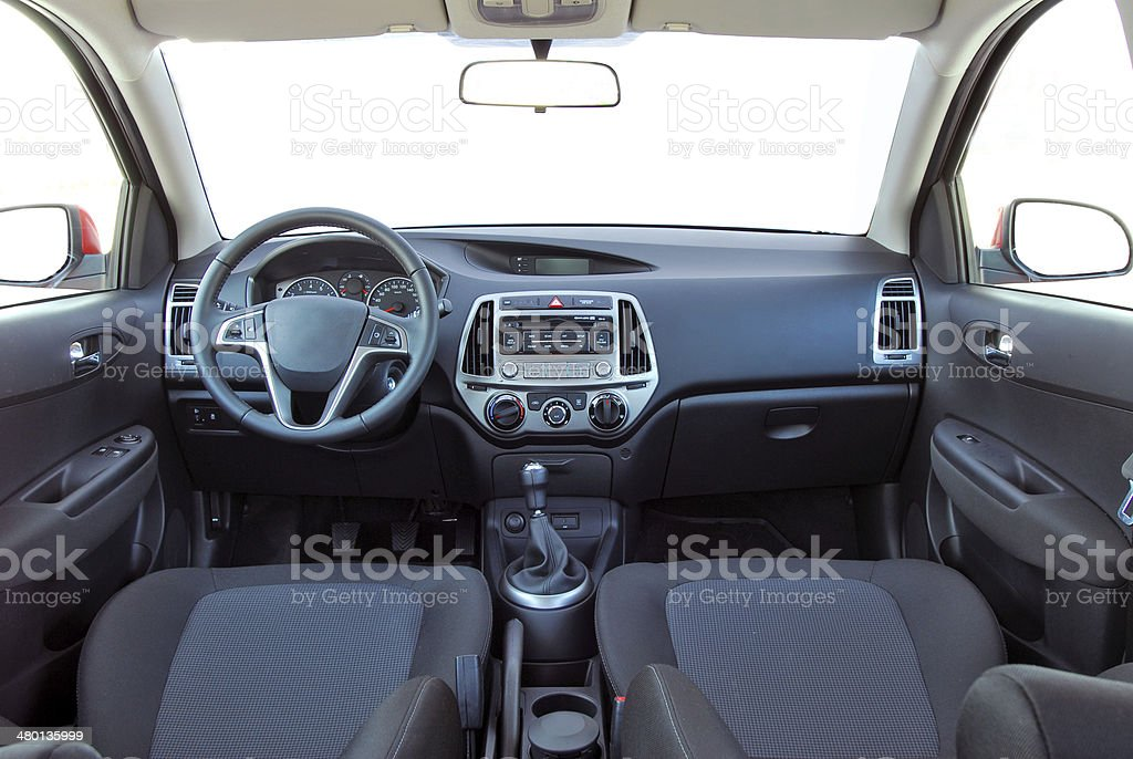 car interior stock photo