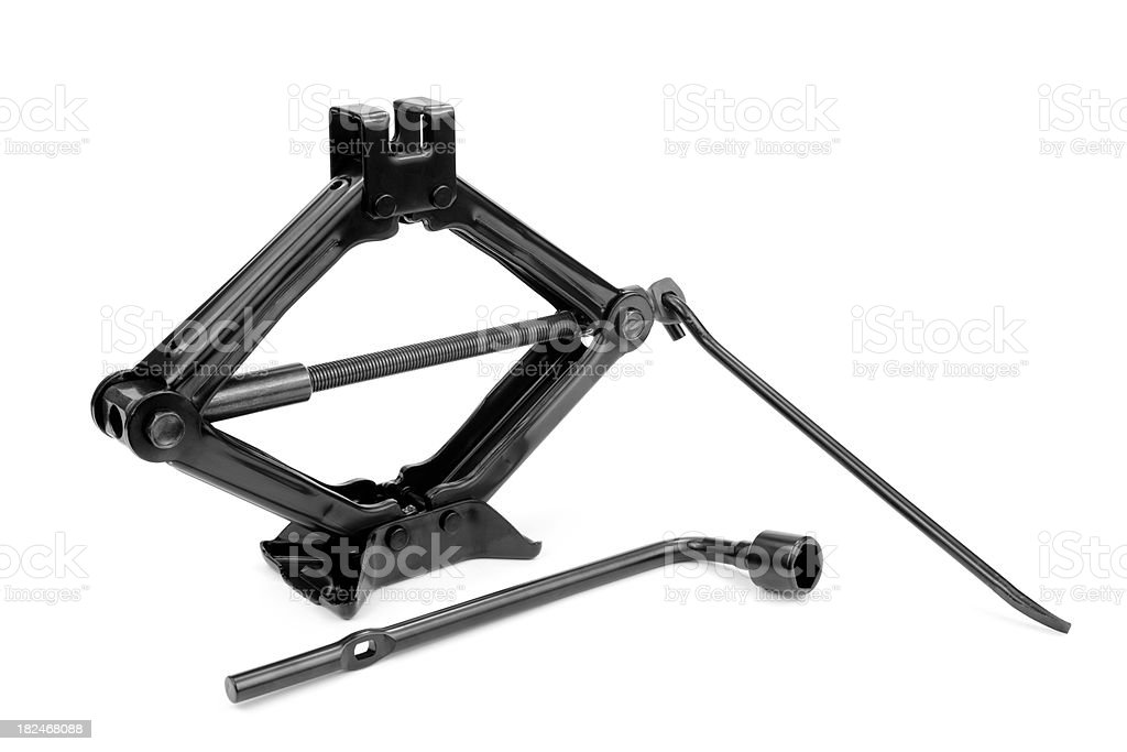 Car Jack and Lug Wrench stock photo
