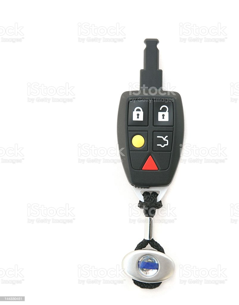 Car key remote, top view royalty-free stock photo