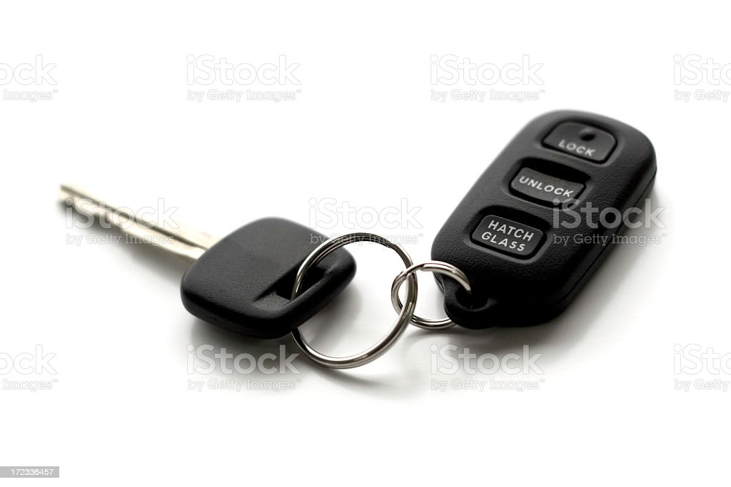Car Key with Remote Control Accessory stock photo