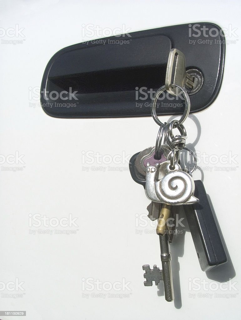 car keys, on our way royalty-free stock photo