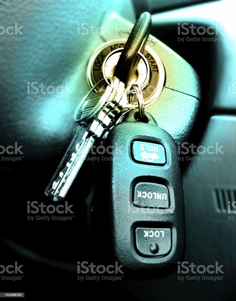 Car keys stock photo