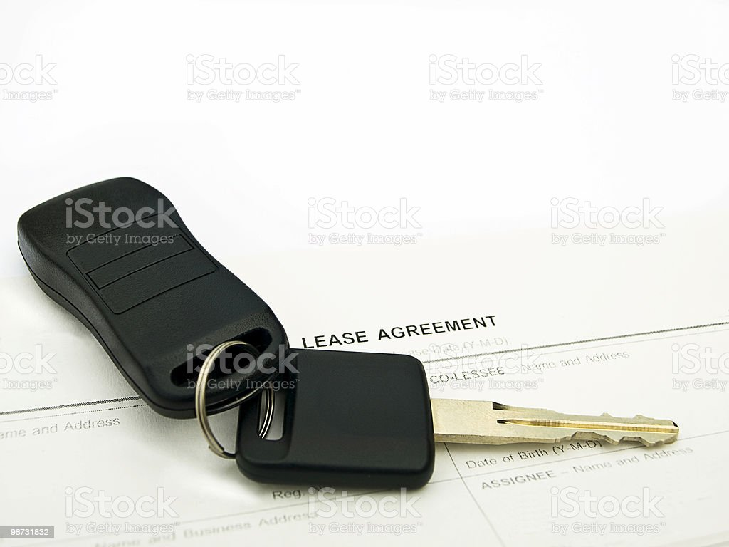 Car lease stock photo