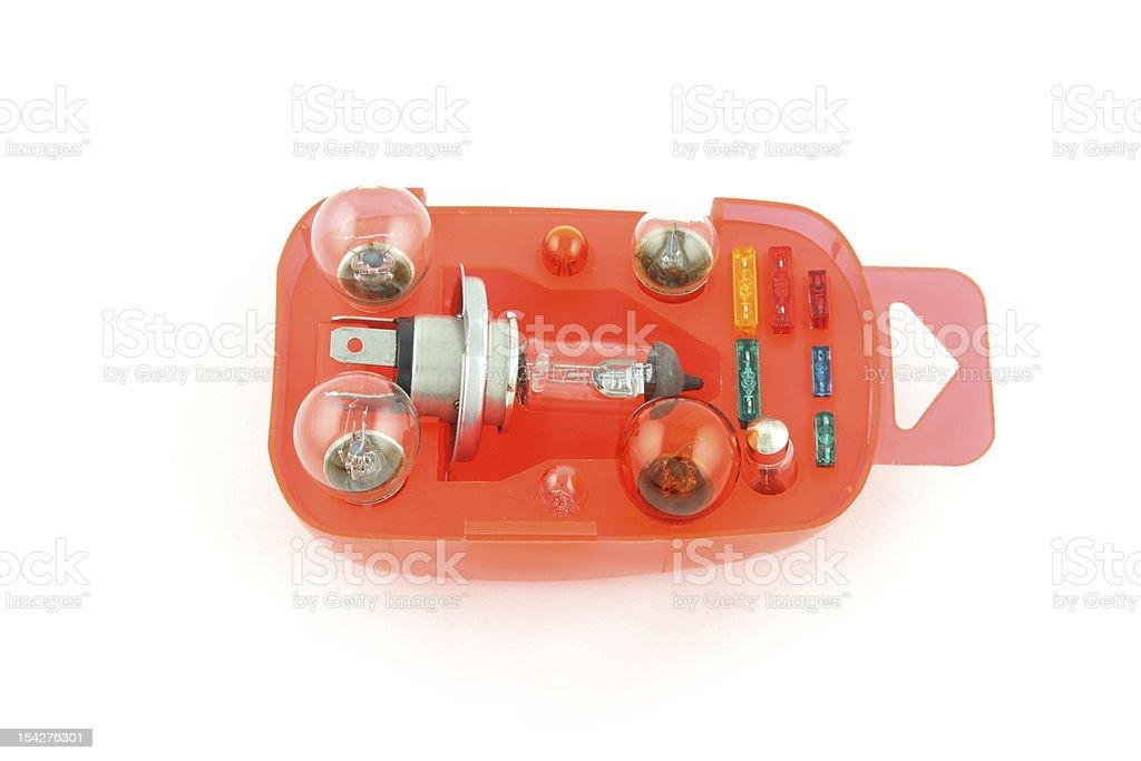 Car light bulbs stock photo