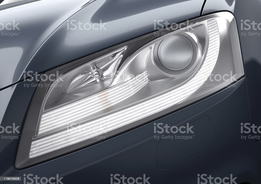 Car light close-up stock photo