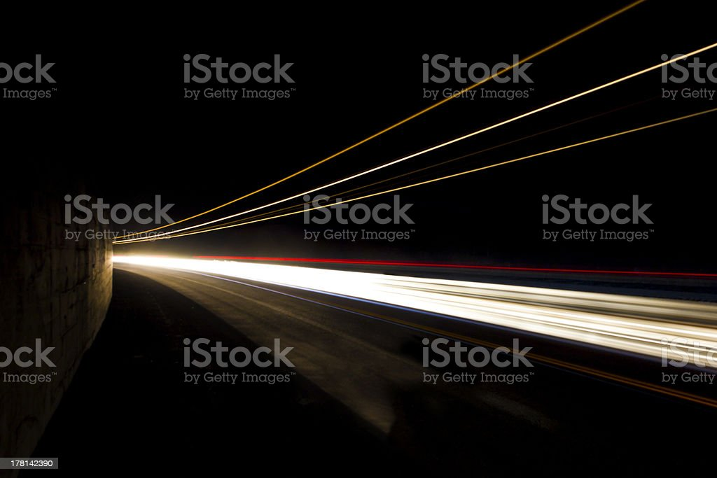 Car light trails. Art image. royalty-free stock photo
