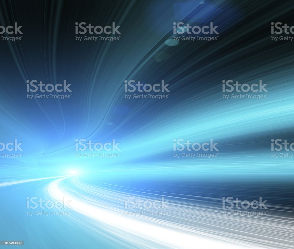 Car lights in motion stock photo