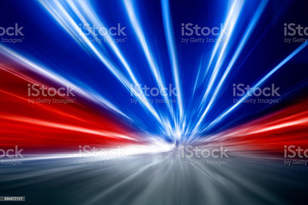 Car lights - long exposure stock photo