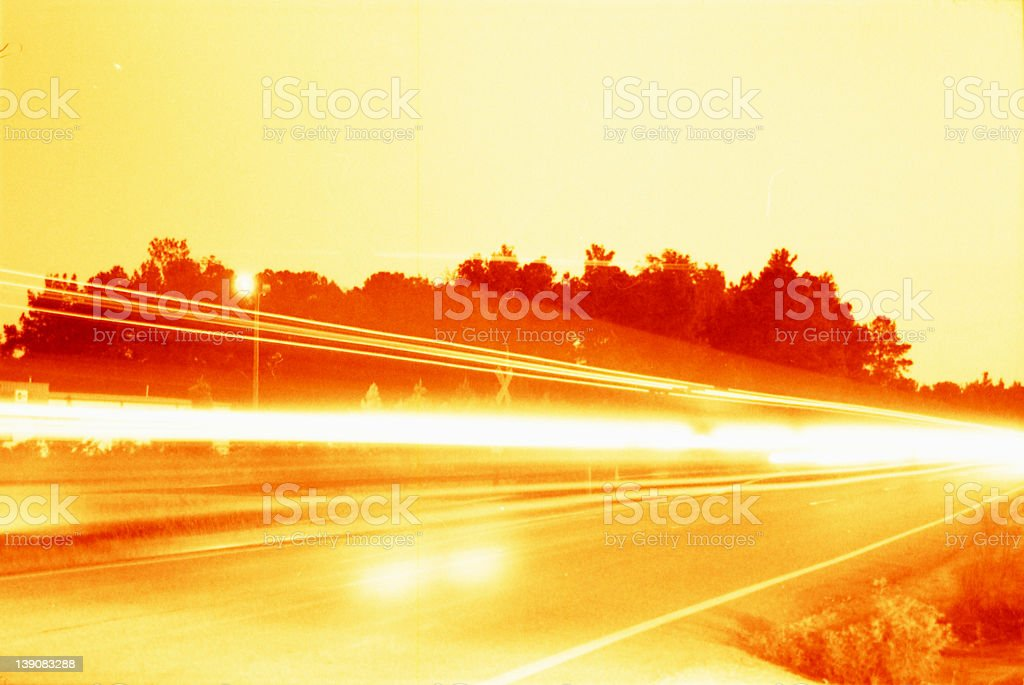car lights. royalty-free stock photo