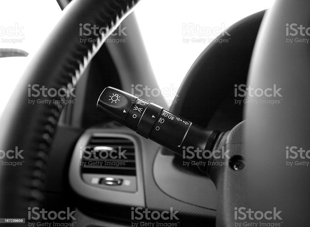 car lights switch stock photo