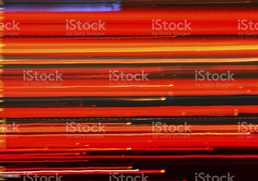 Car ligth trails background stock photo