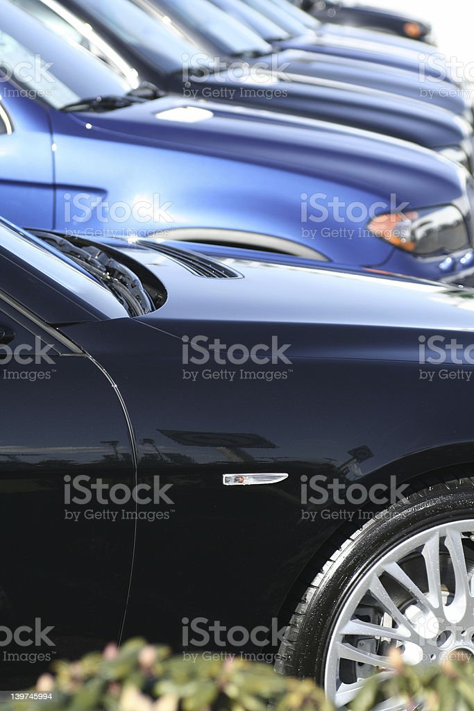 car lined up royalty-free stock photo