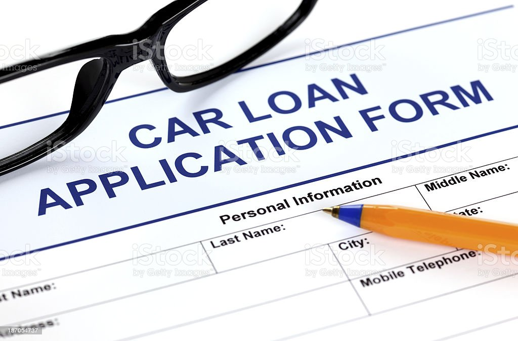Car loan application form royalty-free stock photo