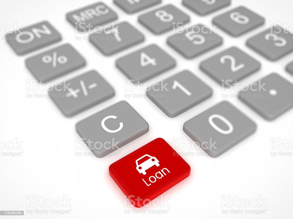 Car loan calculator stock photo