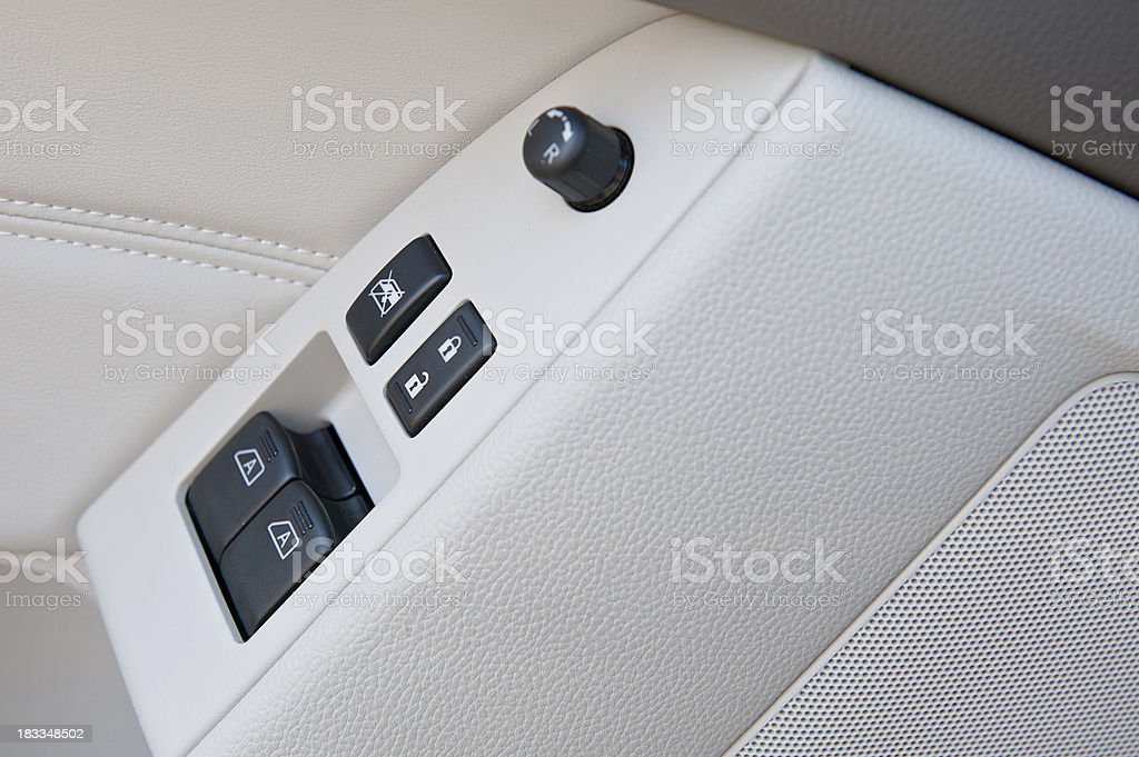 Car Lock and Window Button royalty-free stock photo