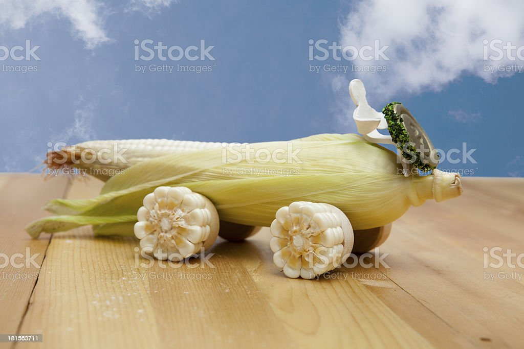 car made of corn and sky royalty-free stock photo