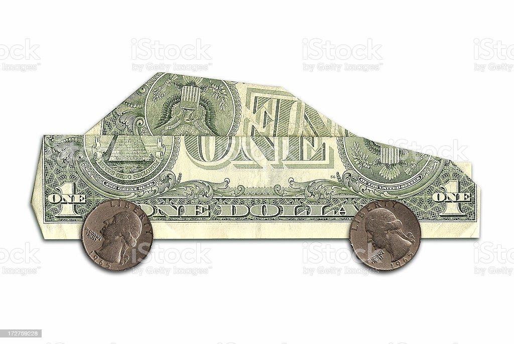 car made of us dollars stock photo