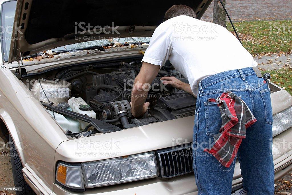 Car Maintenance royalty-free stock photo