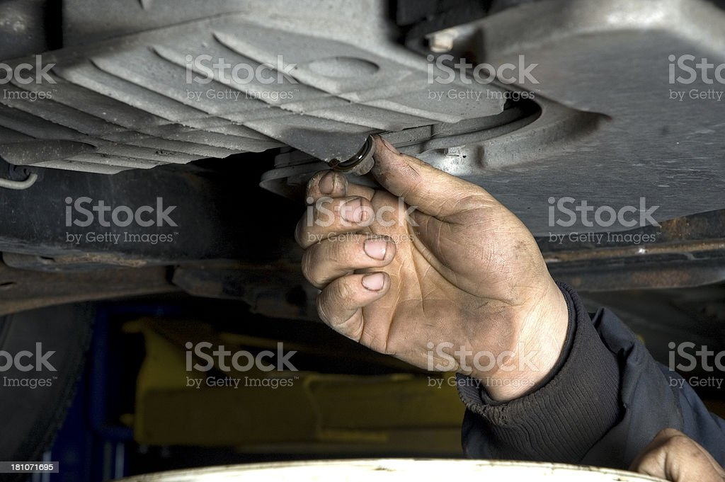 Car mechanic royalty-free stock photo