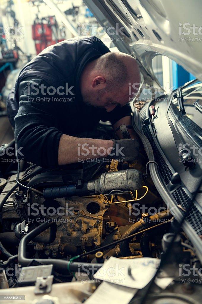 Car mechanic stock photo