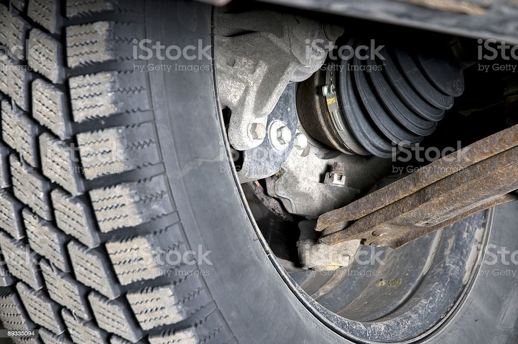 Car mechanic - suspension royalty-free stock photo