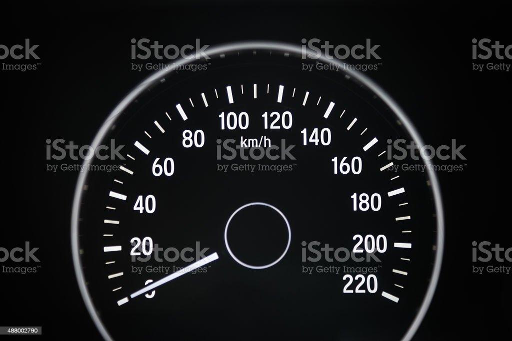 Car milage stock photo