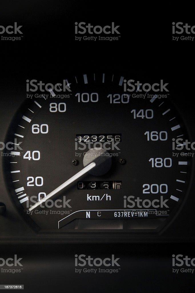 Car Mileage stock photo