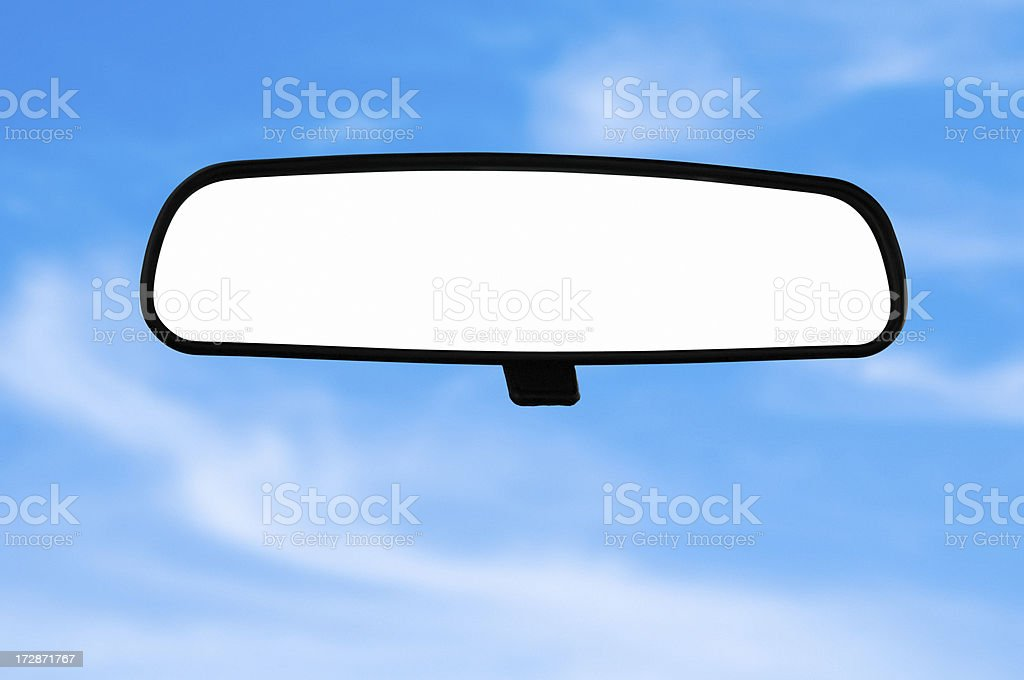 Car mirror (Clipping Path) royalty-free stock photo