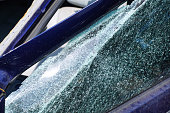 Car mirror window broken - accident