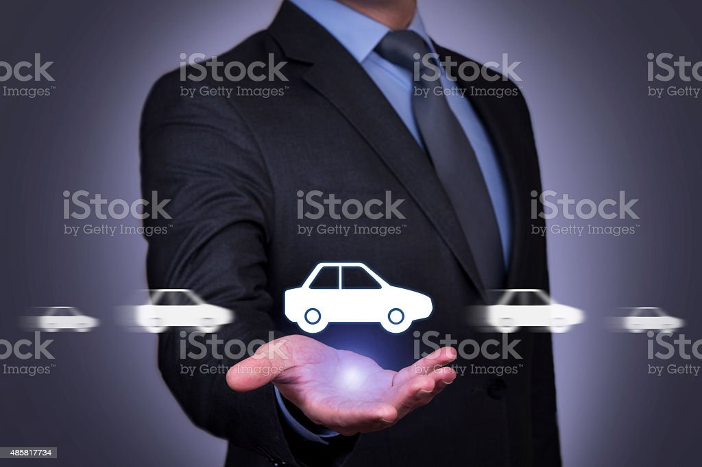 Car Motion on Human Hand stock photo