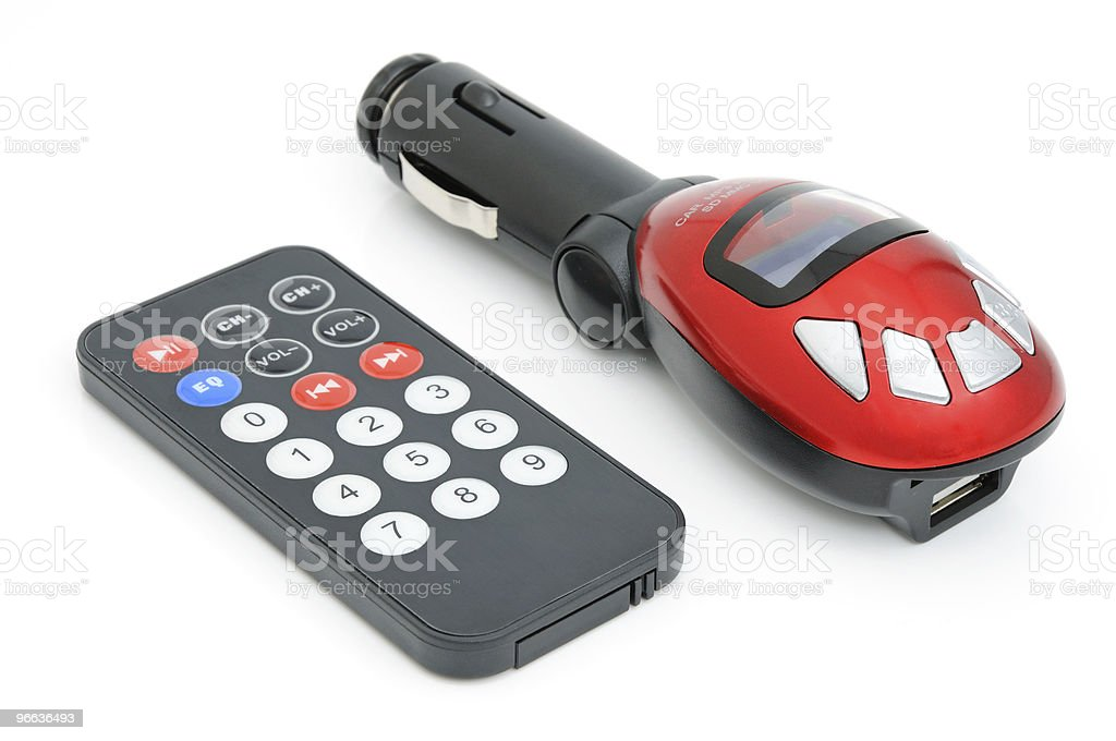 Car mp3 player stock photo
