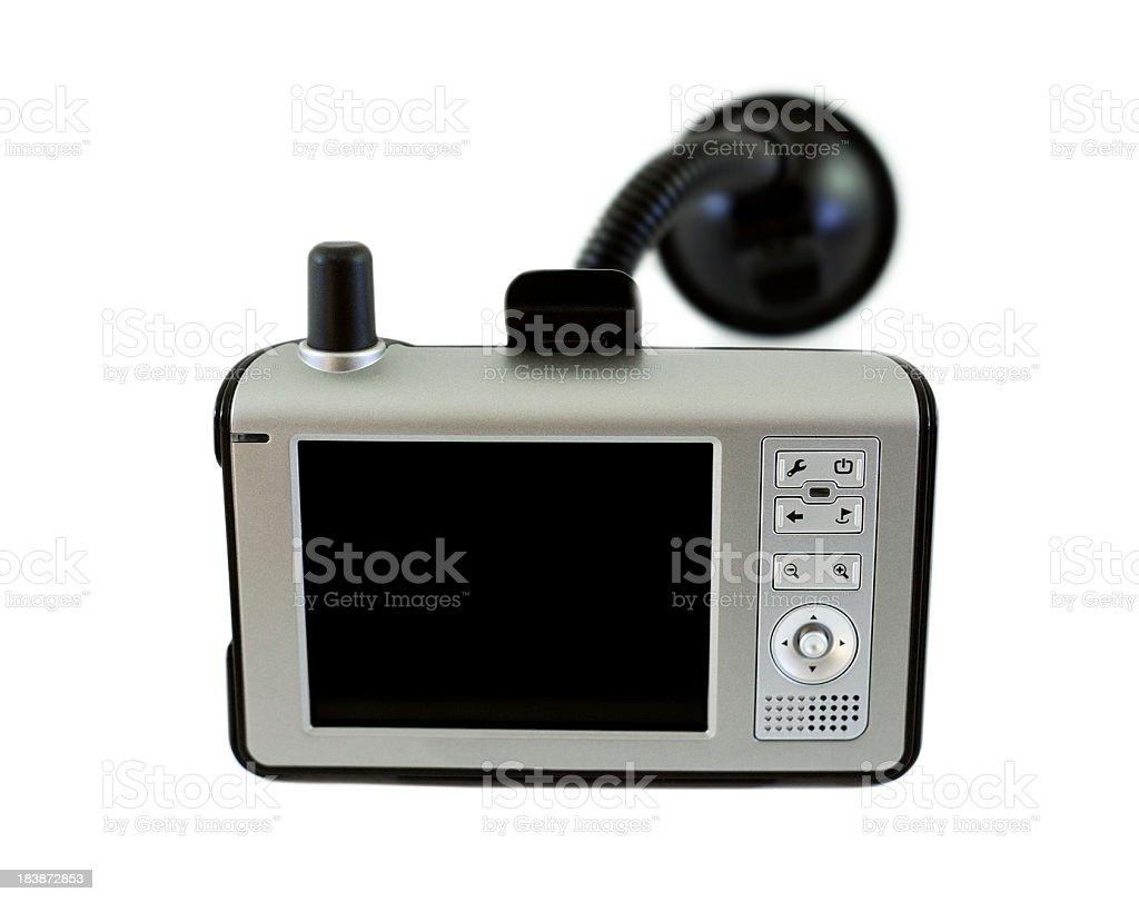 car navigation device on white stock photo