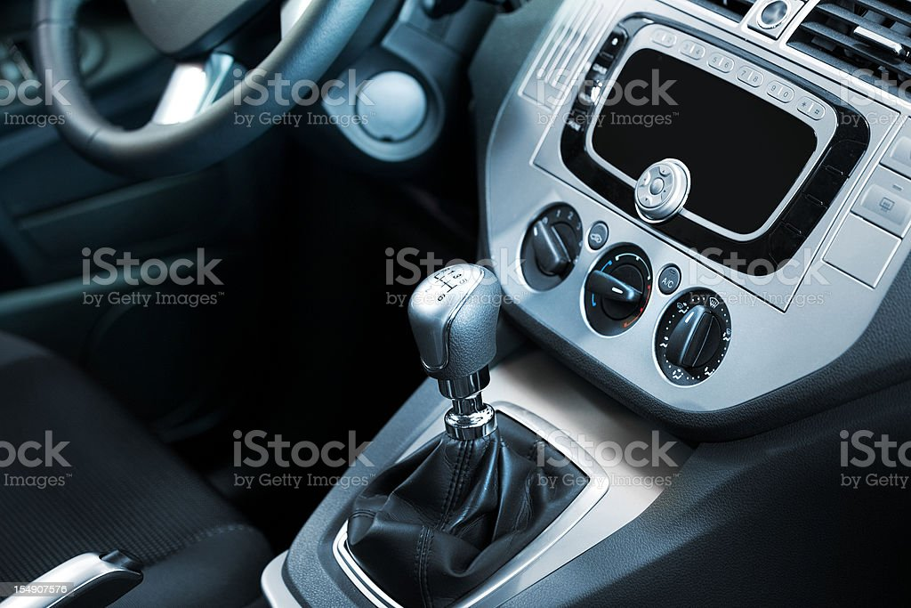 car navigation display stock photo