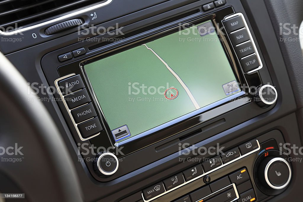 Car navigation multimedia system. royalty-free stock photo