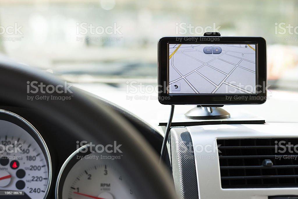 GPS car navigation stock photo