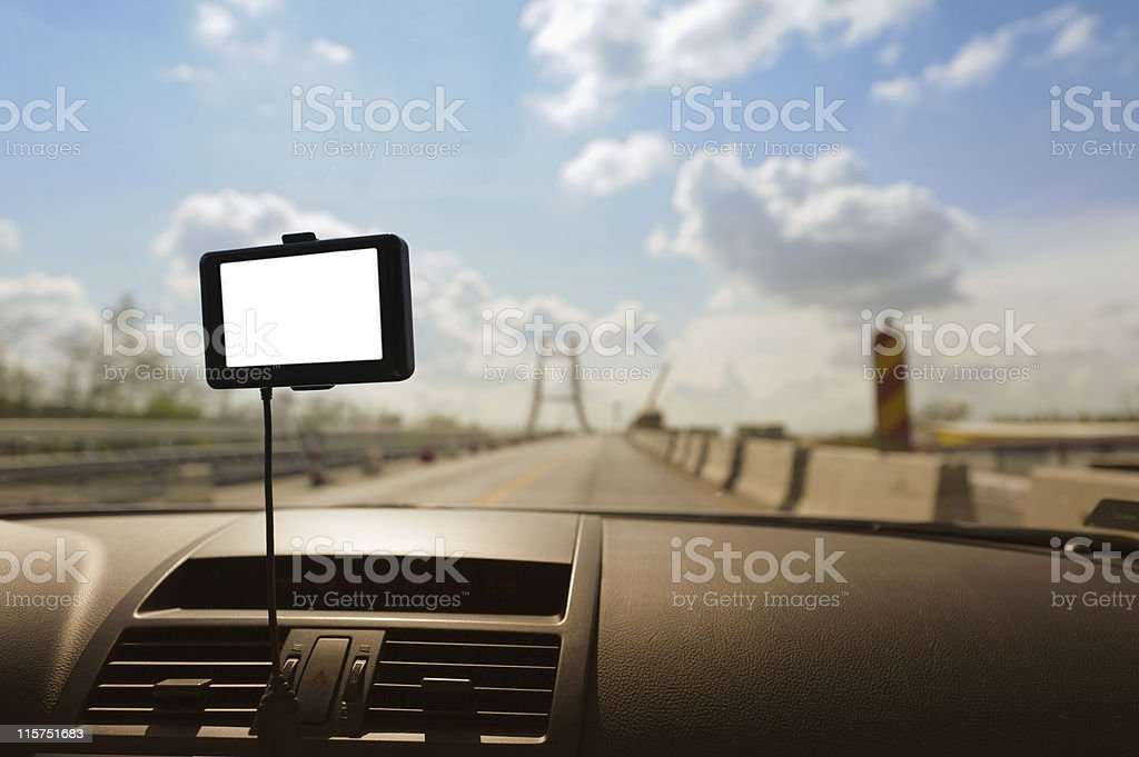 Car navigation system stock photo
