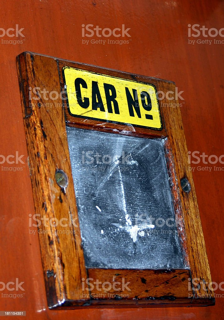 Car number royalty-free stock photo