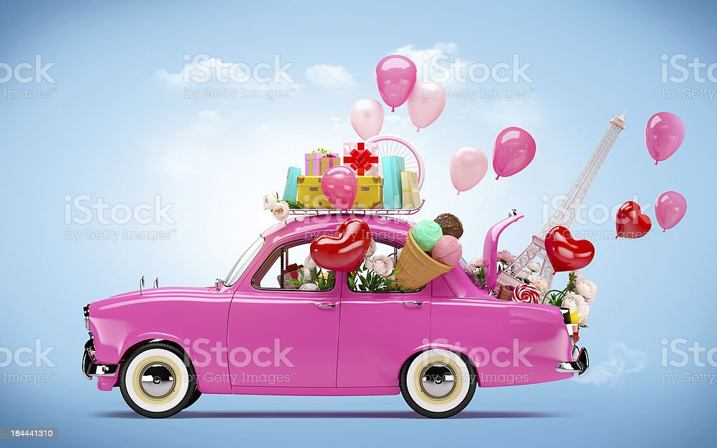 Car of love stock photo
