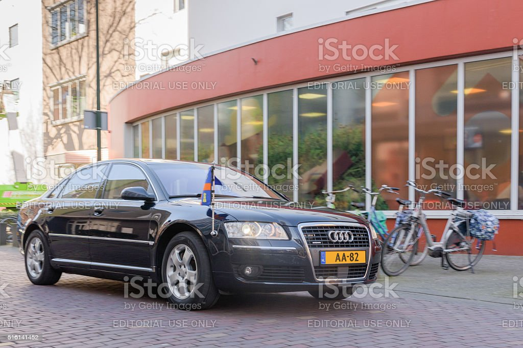 car of Queen Maxima of The Netherlands stock photo