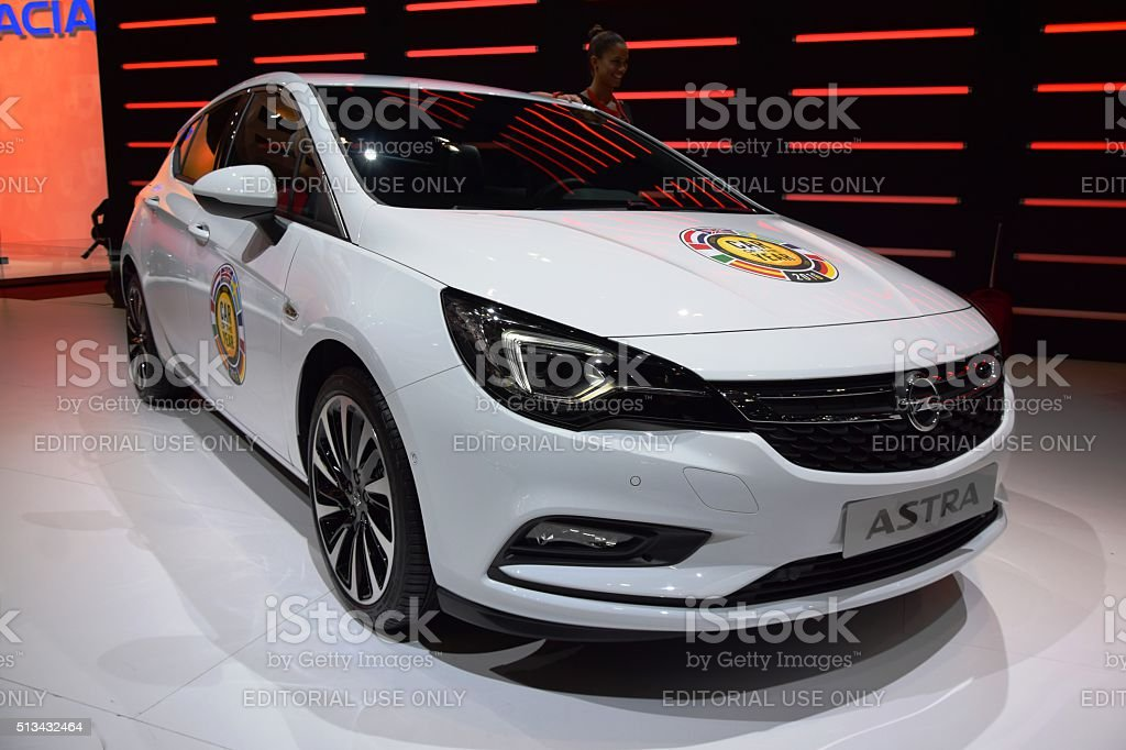 Car of the year 2016 - Opel Astra V stock photo