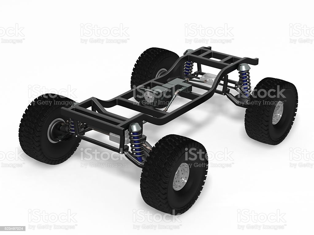 Car off-road chassis stock photo