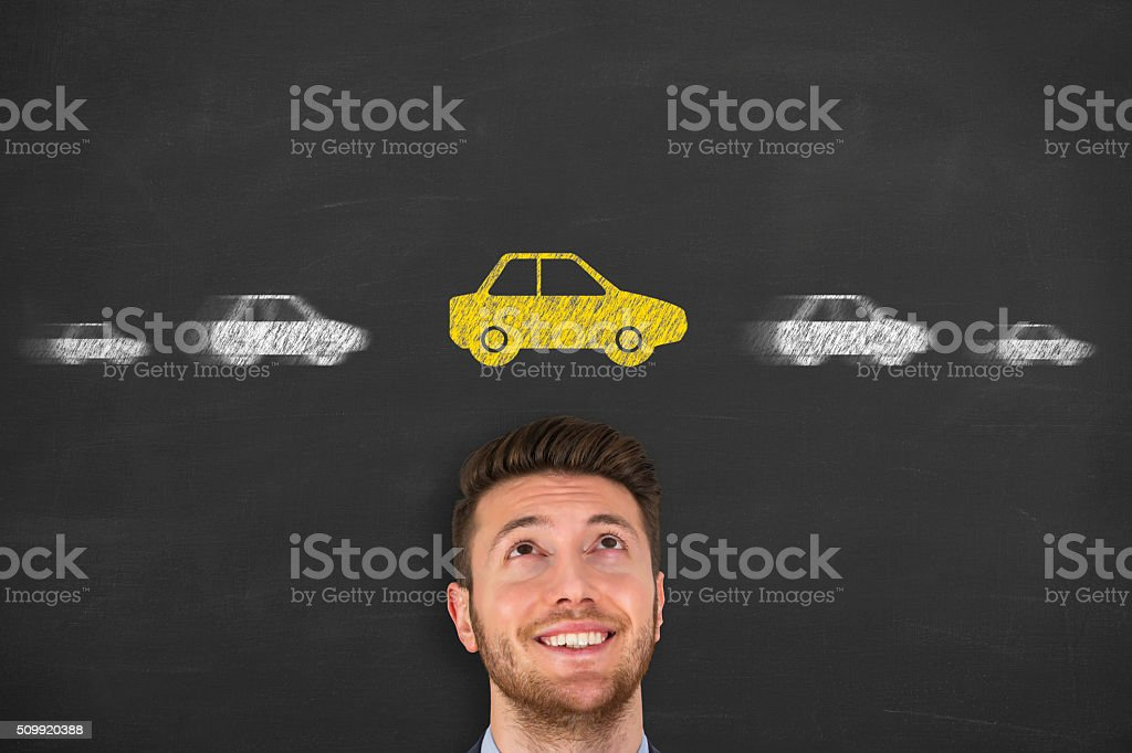 Car on Hand stock photo