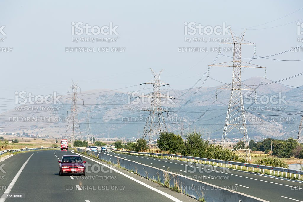 Car on Highway stock photo
