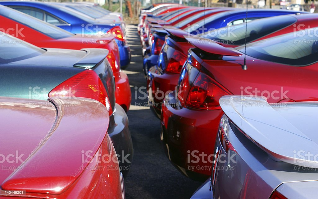 car on line stock photo