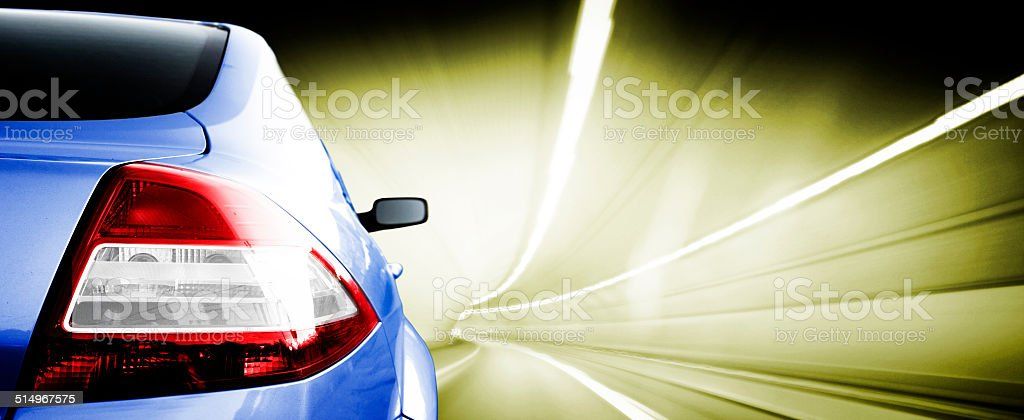 Car on road stock photo