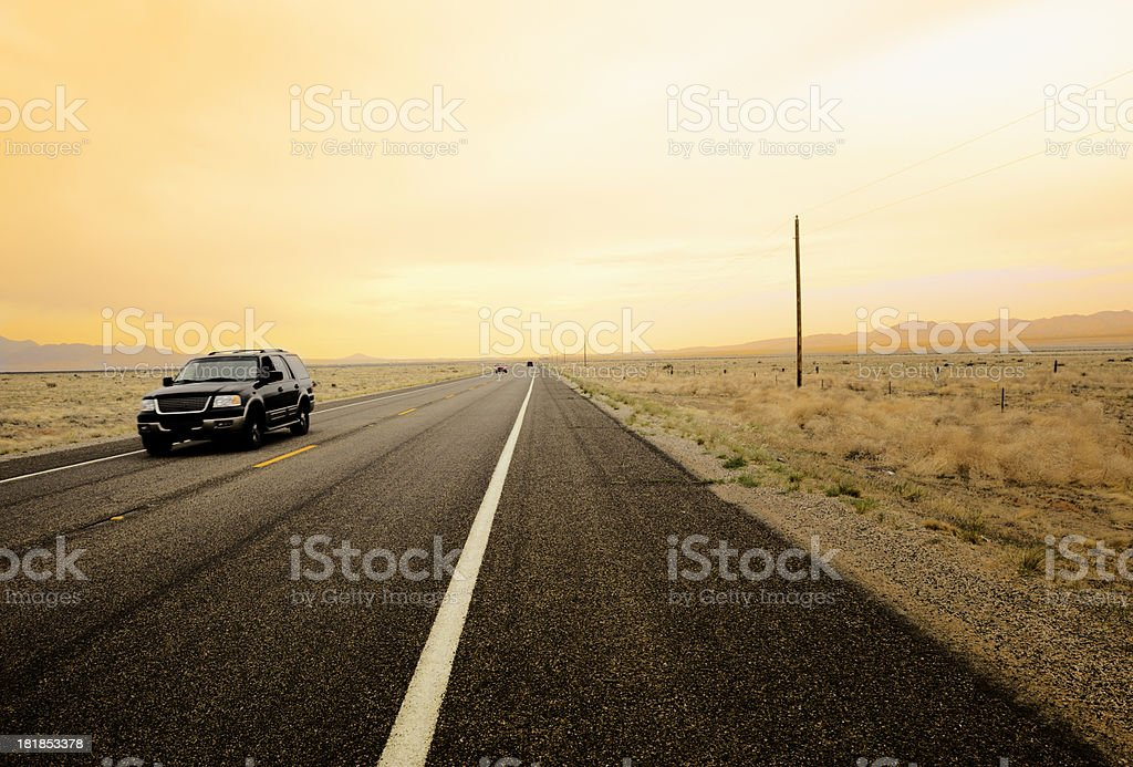 Car on Route 66 royalty-free stock photo